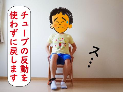 椅子のチューブの足を戻す