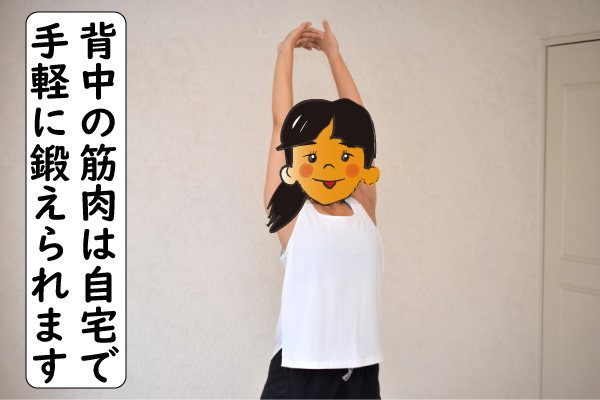 背中の筋肉は簡単な筋トレで鍛える