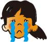 涙女子の顔