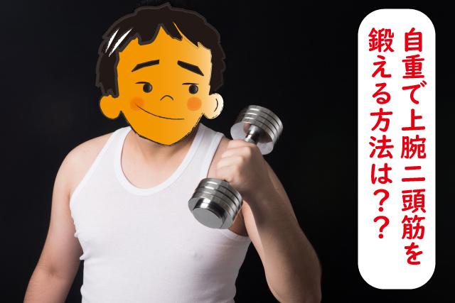上腕二頭筋を自重で鍛えるパームカールがおすすめの理由