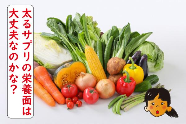 太るサプリの栄養面