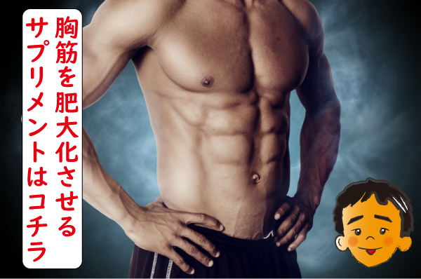 胸筋をサプリメントで肥大化させることは可能なのか?