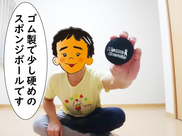 ゴム製のスポンジボール