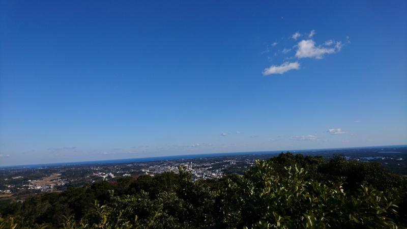 横山からの景色街並み