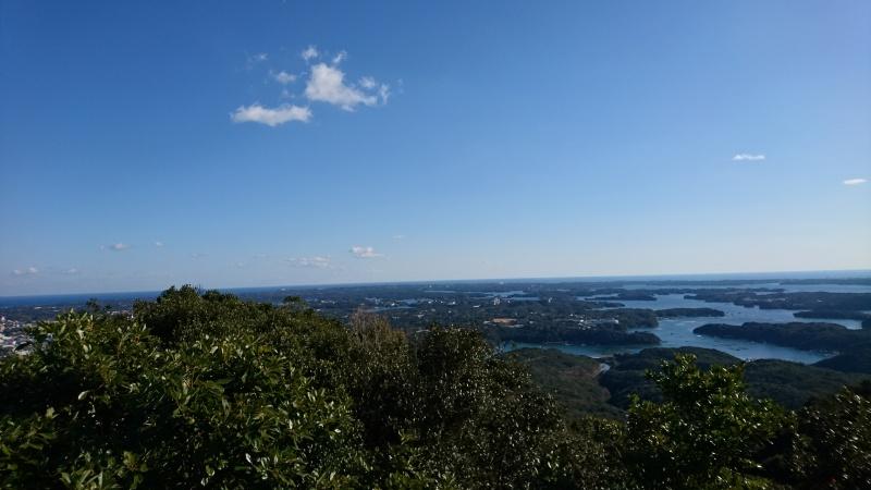 横山からの景色リアス式海岸
