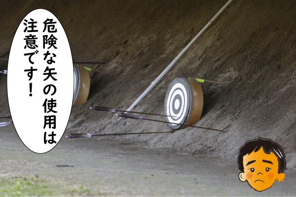 危険な矢は注意